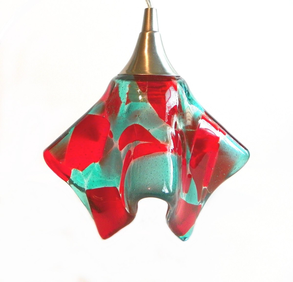 Red Coral Chandelier With 3 Lights: Pendant Light Chandelier Customs Colored Hanging Pendants