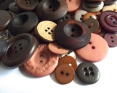 100 Brown Buttons Wood Buttons Tan Khaki Dark Brown Light Brown Wheat Taupe for Jewelry Mixed Media Crafts Crafting Neutral Buttons Bro01