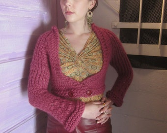 Croppy Double Breasted Sweater Hand Knit