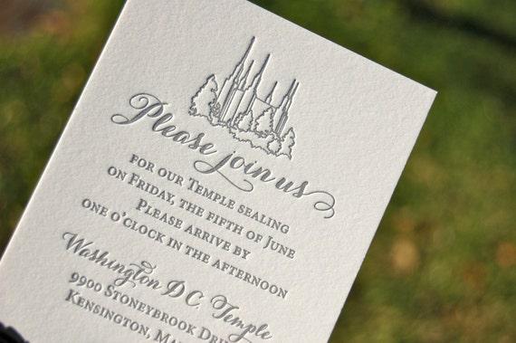 lds wedding invitations letterpress wedding invitations blush and