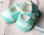Mint Green Baby Shoes