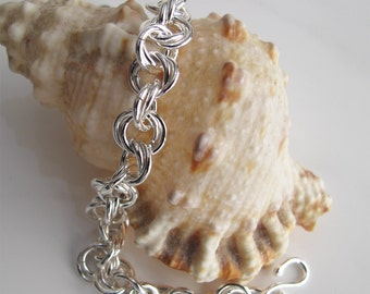 Sterling Chain Bracelet: Handcrafted 925 Silver Links - Unisex Jewelry
