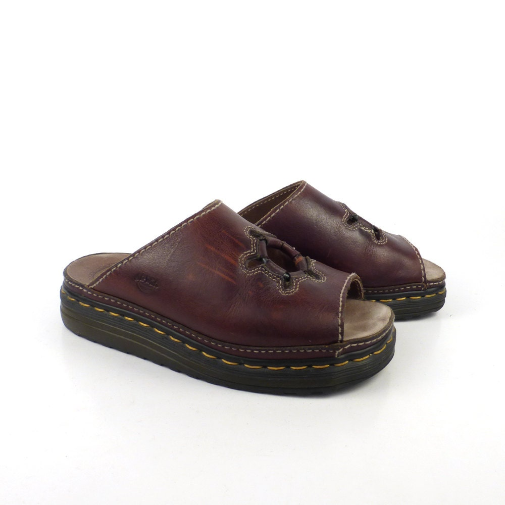 New Dr Doc Martens Womens Shoes Leather Slides Slip On Sandals See Details