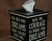 Tissue Box Cover ~Dream & Courage