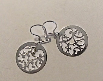 Silver earrings -3-