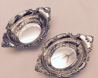 Pair of Antique Gorham Sterling Silver Nut Dishes