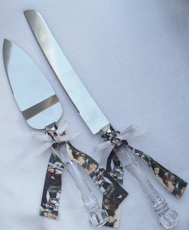 star wars vintage wedding cake knife server set by shaesbridal. Black Bedroom Furniture Sets. Home Design Ideas