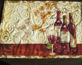 Placemat set of four Quilted Wine Bottles Wine a Little You ll Feel Better Quiltsy handmade