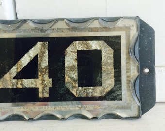 Antique House Numbers Wall Sign