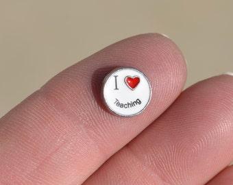 1 Memory Locket I Love Teaching Charm FL455