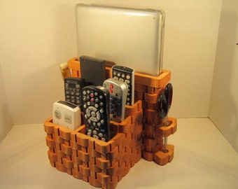 Tablet, LapTop, TV 6 Remote Organizer Handmade