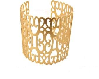 15% SALE,Arm Cuff, Gold  Bracelet, Bridal Gold Bracelet, Cuff Bracelet, Gold Cuff Bracelet, Wedding jewelry