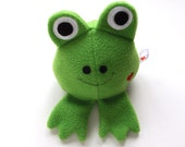 Green Frog -  Stuffed Toy - Stuffed Animal - Plushie