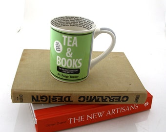 Tea and Books mug great gift for reader, teacher, librarian, person who loves tea books and reading