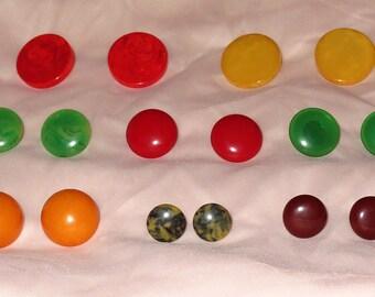 Round Bakelite Earrings - Your Choice