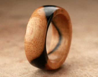 Size 6.75 - Pale Moon Wood Ring No. 20