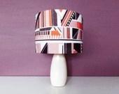 Geometric Aztec Drum Lampshade, Cotton Light Shade DISCOUNT SALE