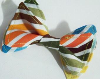 Boys Bow Tie - Bright Stripe Bow Tie -Bow Ties Toddler - Rainbow Baby - Rainbow Bow Tie - Pride Bow Tie - Pride Outfit - Gay Pride
