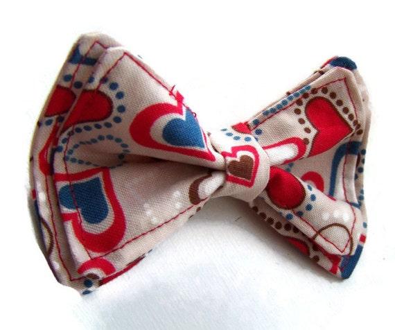 Boys Bow Tie -Heart Throb Bow Tie - Bow Ties Toddler - Newborn Bow Tie - Valentine's Day Bow Tie - Heart bow Tie - Red Bow Tie - Love tie
