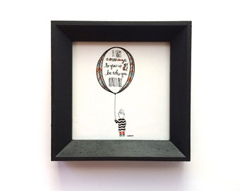 Framed Mini Print - It Takes Courage - E.E. Cummings - Illustration Locally Made Frame - Nursery Children - Love Letters to Littles Series