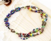 Over the rainbow - triple strands anklet