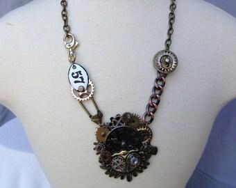 Steampunk Jewelry, Steampunk Necklace, Statement Necklace, Owl Necklace, Steampunk Owl