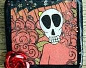 Halloween Skull Dia de Los Muertos Button