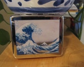 The Great Wave off Kanagawa 8 Day Pill Box with Mirror