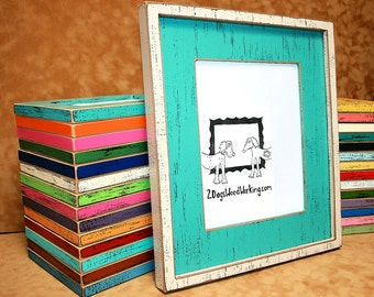 8x10 picture frame weathered frame 2 color frame colored frame chunky 3 - Distressed Wood Frames