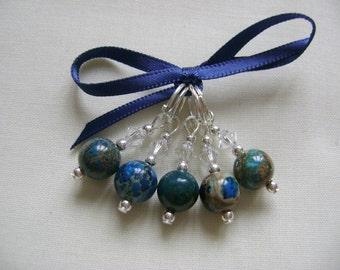 Impression Jasper Stitch Markers for Knitting or Crochet