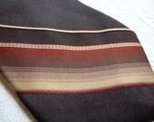 vintage Necktie, Envoy Men's Necktie, Brown Gold Orange Tie, Men's Tie, Stripe Necktie,Mens Accessories,Unique Tie,Retro Tie,dress shirt tie