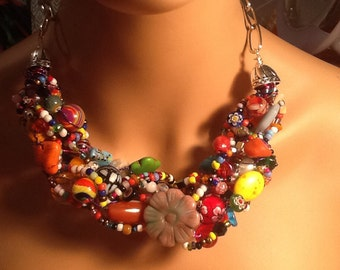 Fiesta Necklace Fabulous Fire Texas Twist Viva Fiesta OOAK