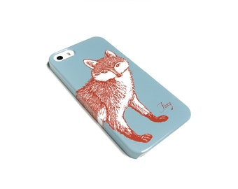 iPhone Case - Sky Blue iPhone 7 Case, Fox iPhone SE Case, Samsung Galaxy S8 Cover, Woodland  Case iPhone 6S Plus