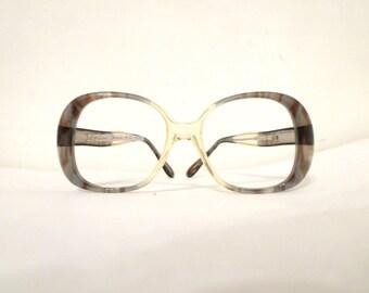 Never Used Bubble Glasses Vintage NOS Mod Bug Eye Faux Marble Eyeglass Frames / Designer Disco Sunglasses. USA, SALE