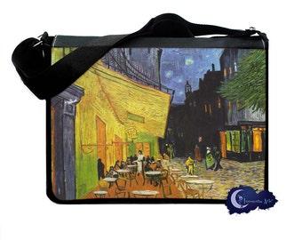 Cafe Terrace at Night by Van Gogh -  Messenger & Laptop Bag