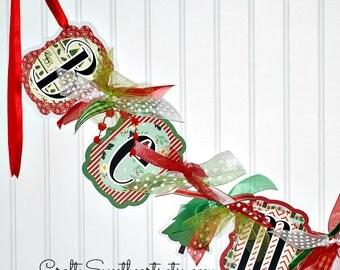 BE MERRY Banner Holiday Season Christmas Decoration Garland