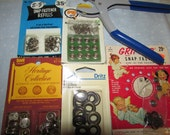 Lot of grommets, snaps including tool excellent condition