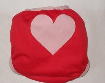 Heart butt PUL Diaper Cover