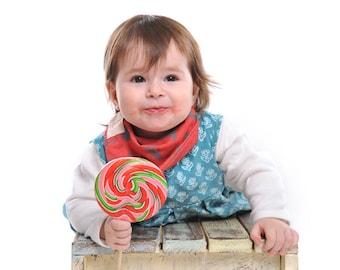 Baby red bandana bib  / drooler bib  / baby bib / modern bib / Gender Neutral / baby drooler bib / drooler bib / baby scarf