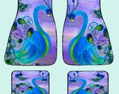 Peacock Art Car Mats front and rear from my original design