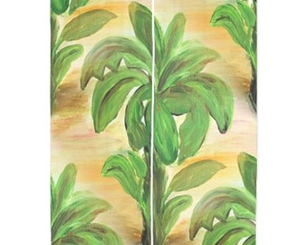 Banana Tree Tropical Shear Curtains available in 2 lengths