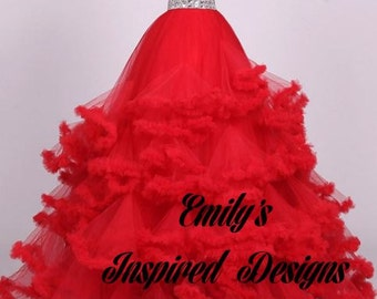 Couture Ball Gown Custom Made, any size and any color