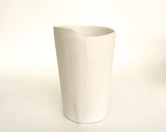 hand built porcelain vase  ...   cup  ...   vessel