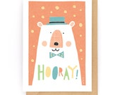 Hooray! - Greeting Card (2-59C)