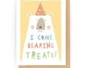 I come bearing treats - Greeting Card (2-57C)