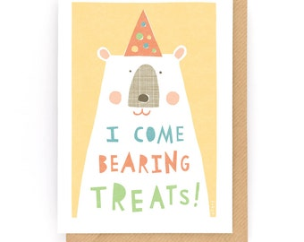 I come bearing treats - Greeting Card (2-57C)