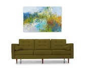 Abstract Painting Print Instant Digital Download Reproduction Modern Home Decor Wall Art blue green orange, Days Like This by Torrant