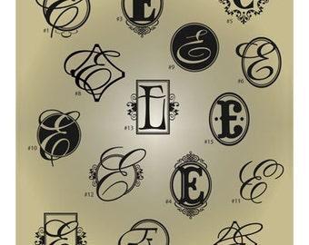 Monogram Letter E SVG Files - Ai Svg Eps Gsd - Cuttable SVG Monogram E - Monogram Vector File for Vinyl Cutters - Monogram Digital Cut File