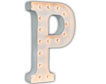 """SALE - Circus Light P - RUSTY - 24"""" Vintage Marquee Lights-The Original!"""