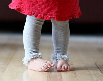 Gray/ Silver Baby Leg Warmers